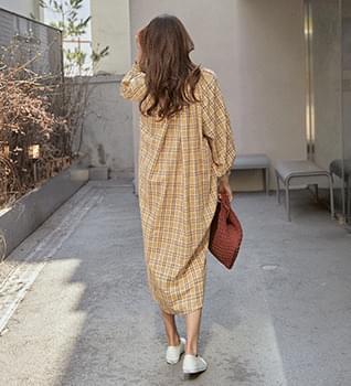 Mumu Long Check Dress#37900