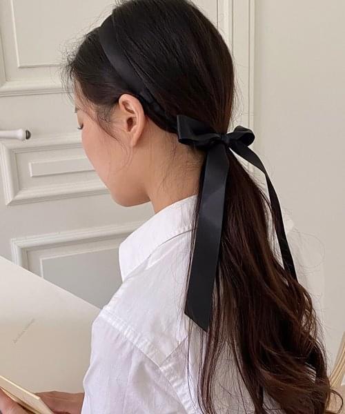 satin tie hair band