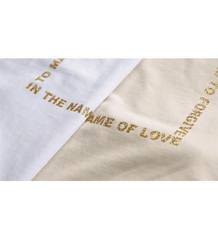 Shine square lettering t-shirt #109003