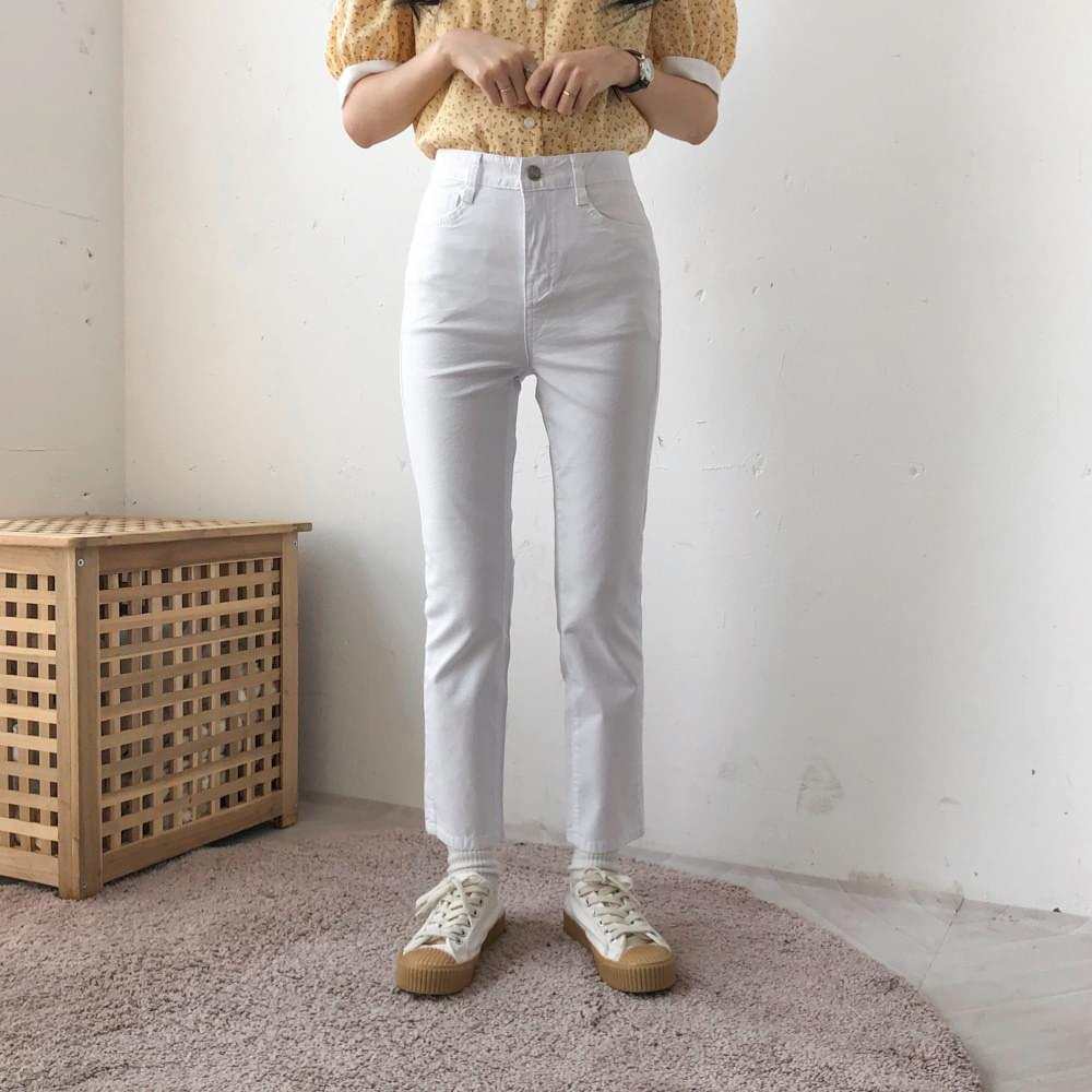 323 summer cropped straight pants