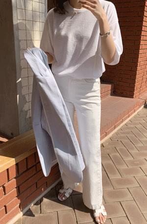 Summary Loose-fit Linen Knitwear Tee