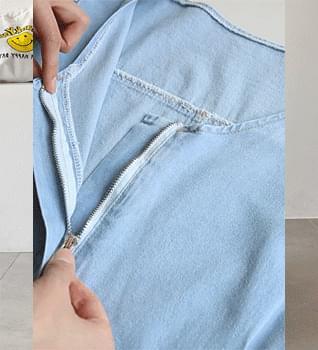 Denim Puff Jumpsuit #76162