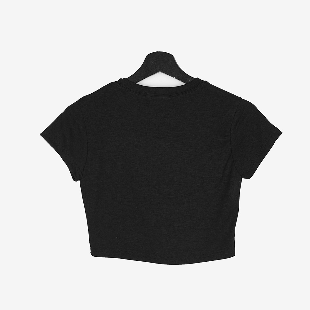 蝶プリントクロップ半袖Tシャツ