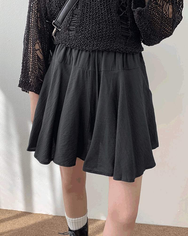 Smog basic flared skirt 裙子
