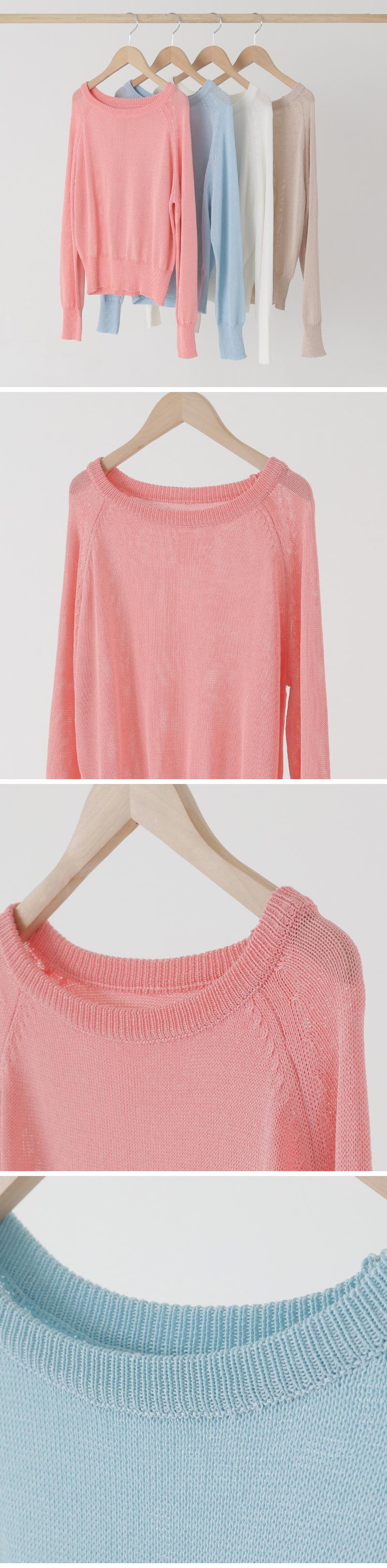 Candy Raglan Round Knitwear