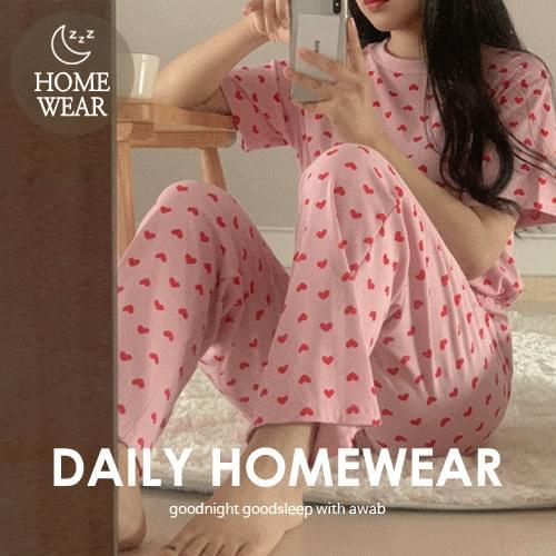 #homewear:_love pajamas set