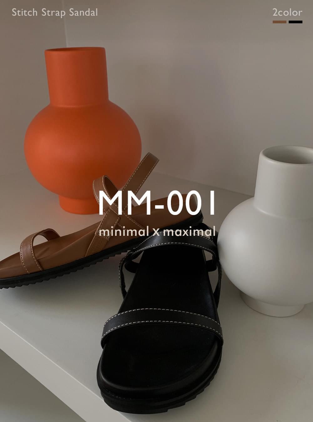 MMMM# single order/same-day shipping MM-001 stitch strap sandals