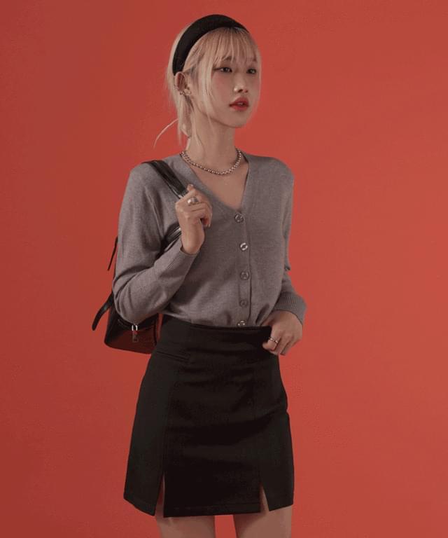 韓國空運 - Ade V-Neck slim cardigan 針織外套