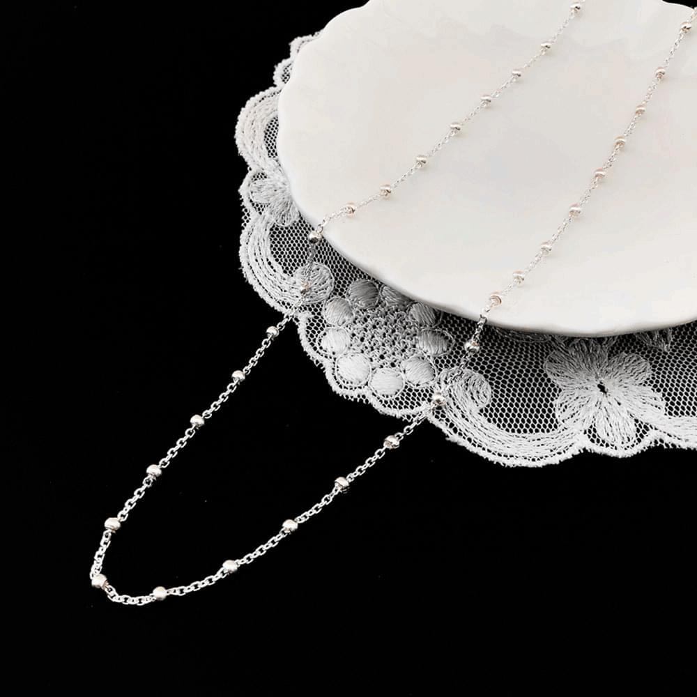 92.5 silver ballline necklace