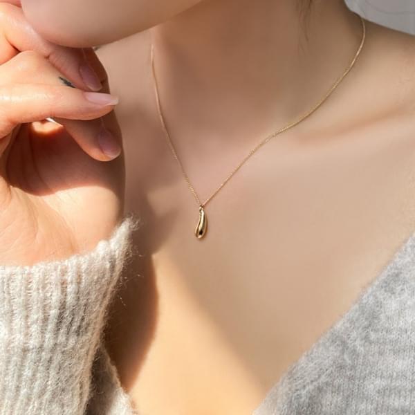 Simple Water Drop Necklace 2color