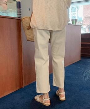 Kemo straight cotton pants