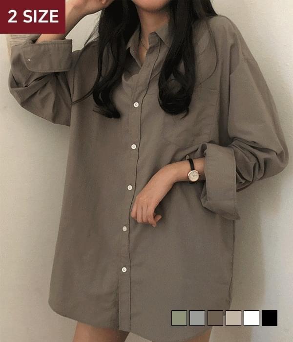 Outer rusling shirt (人氣商品配送延遲) 襯衫