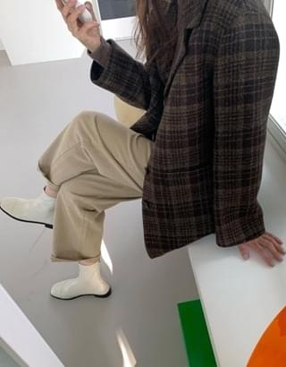 韓國空運 - sale) Hawkins check coat 大衣