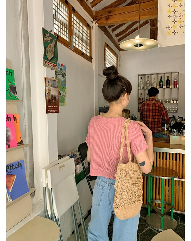 Regular net shoulder bag