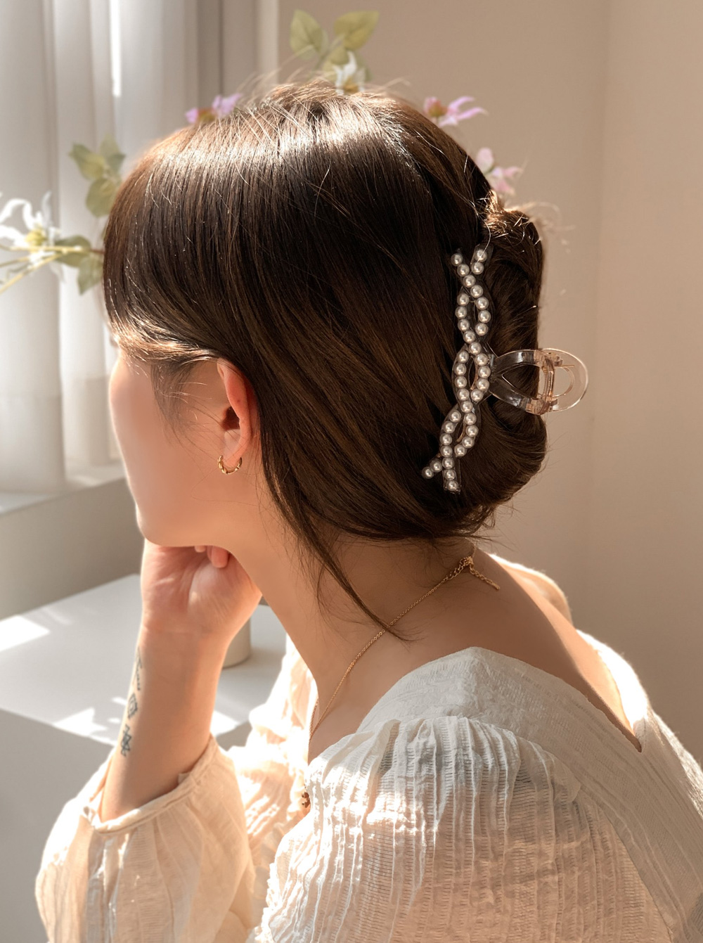 Two Wave Twisted Hair Tongs Pin