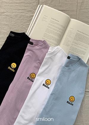 Smilerun embroidered short-sleeved T-shirt