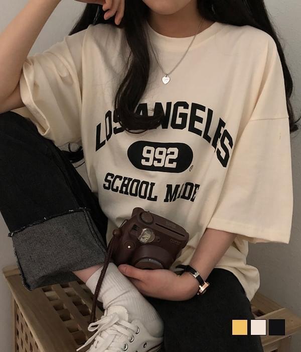 LA 992 overfit short-sleeved T-shirt