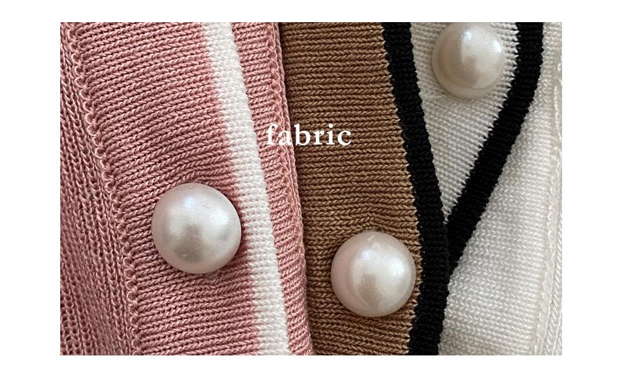 Morina color matching short sleeve cardigan