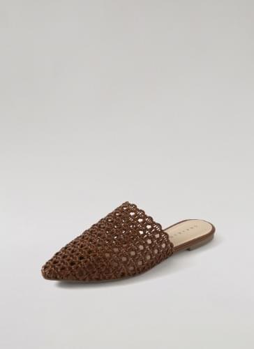 Kirsty Handmade Rattan Mule Slippers SPACT2c093