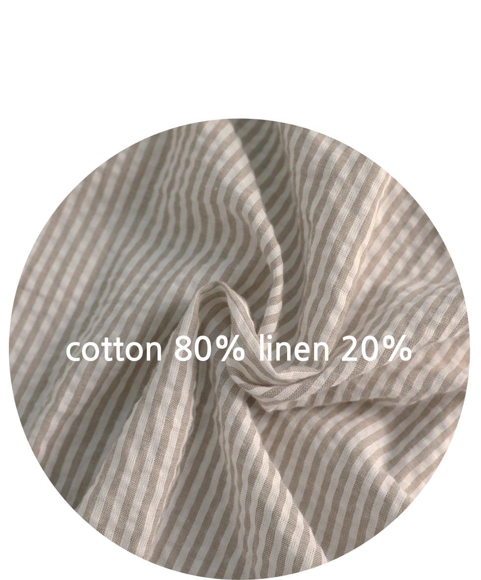 Cita linen striped shirt