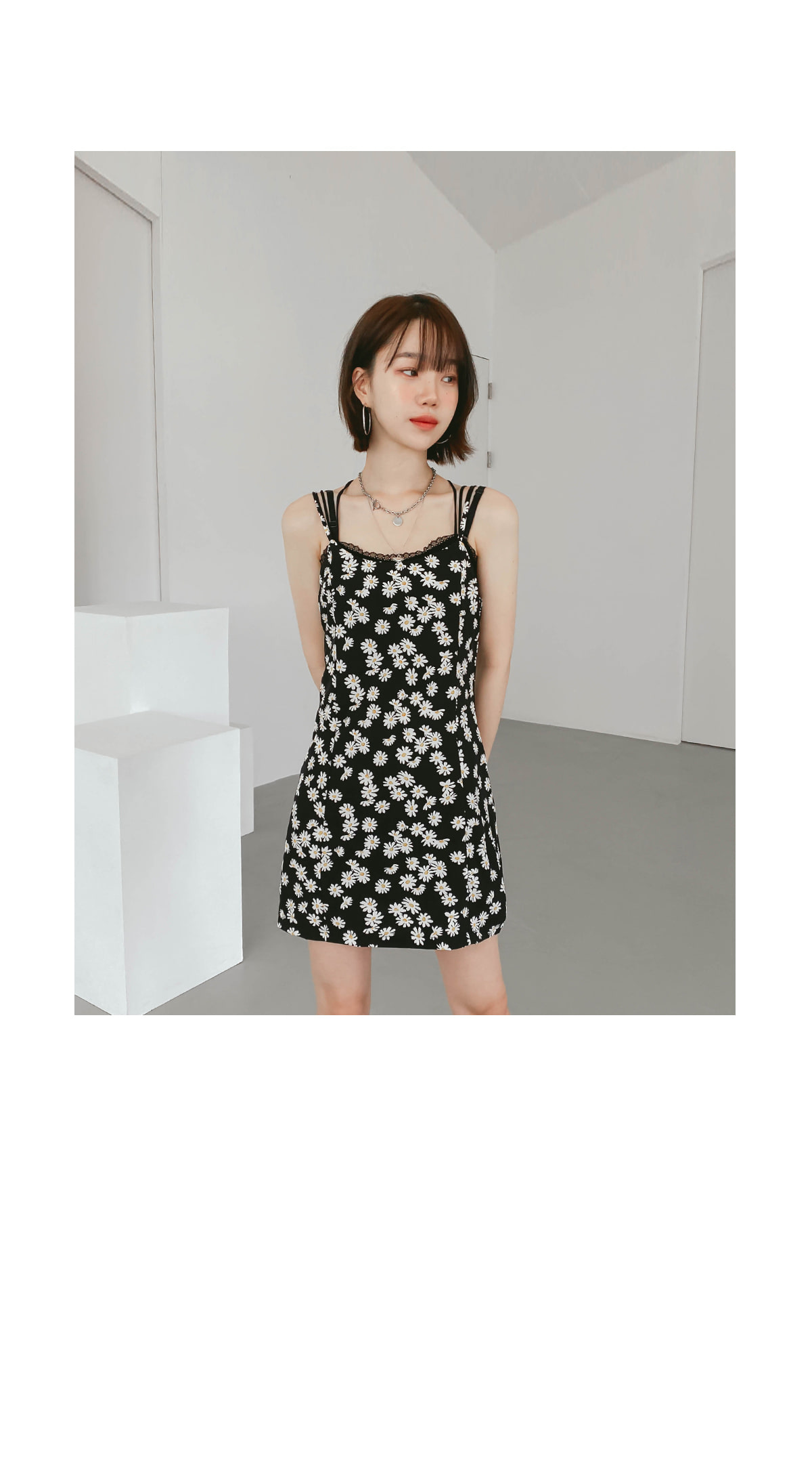 Flower Rain Bustier Dress