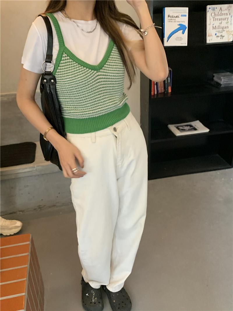 kn4401 Ydy Knitwear Strapless Sleeveless Vest