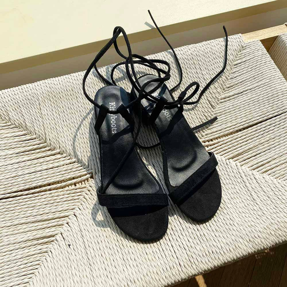 Knotted gladiator sandals 3.5cm