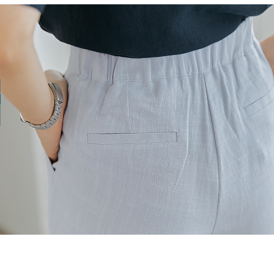 Pintuck Accent Loose Pants