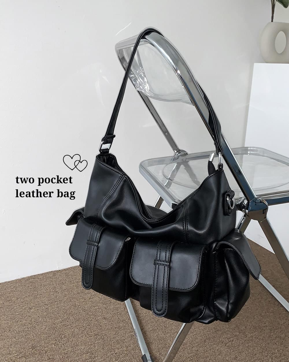 Lucky Pocket Leather Big Shoulder Bag Cross Bag (Delayed delivery)
