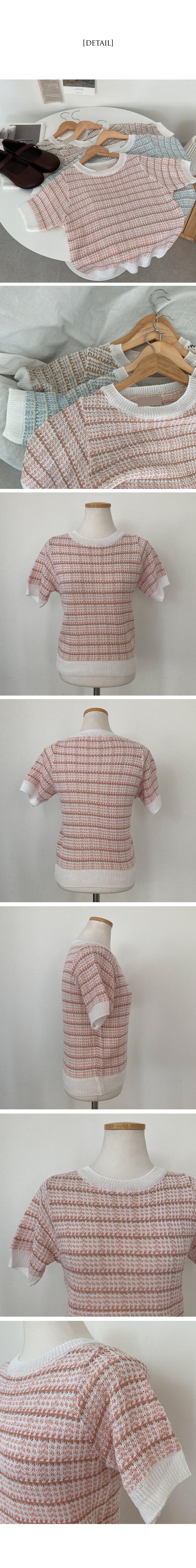 Allotweed Short Sleeve Knitwear