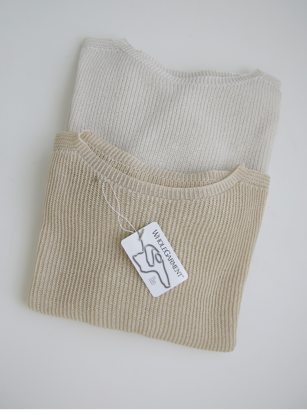 Summer Whole Garment Boat Neck Raglan Knitwear