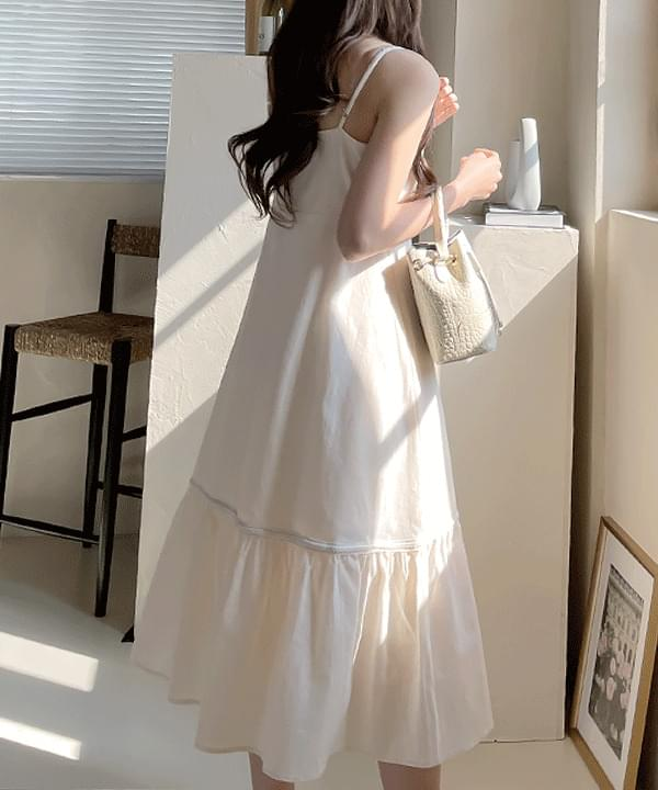 Skinny Lace Strap Sleeveless Long Dress