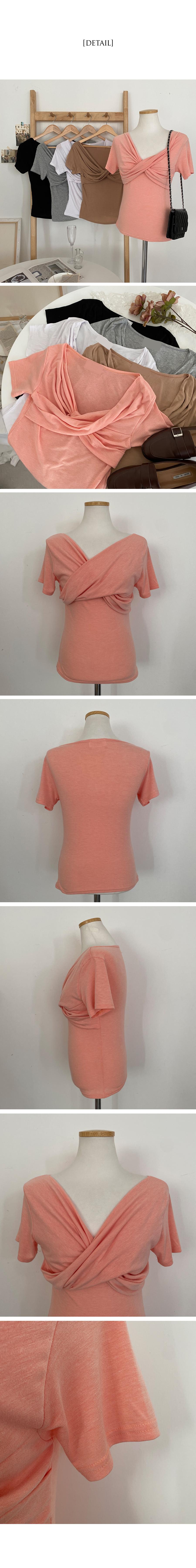 Stunning rayon twist short-sleeved T-shirt