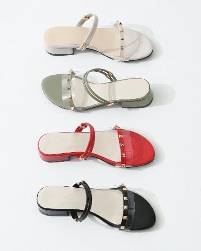 studded two-way middle heel mules sandals discount NE SDEMR2b5220