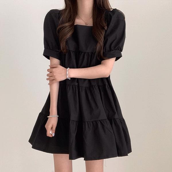 Clean Short Sleeve Cancan Dress