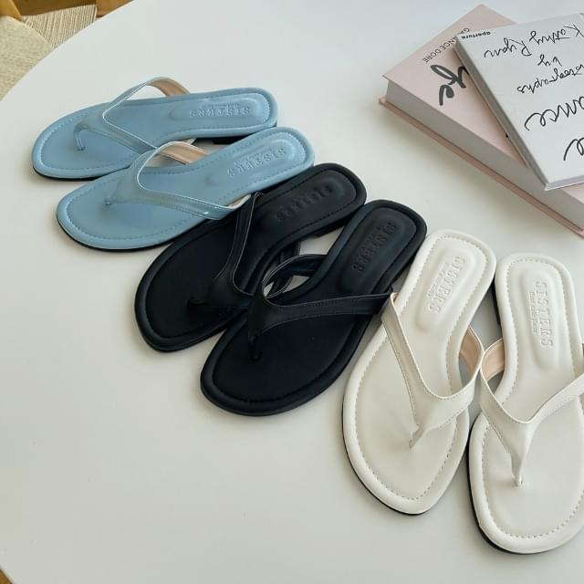 Wide Strap Pleated Slippers 3color