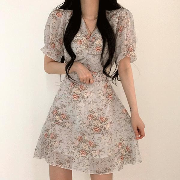 Prim Flower Short Sleeve Dress