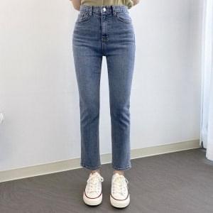 Straight straight denim pants
