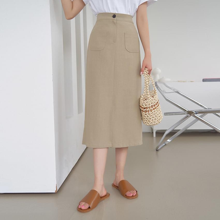 Dina pocket banding skirt