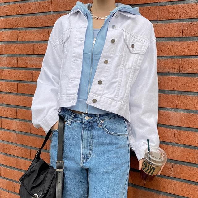 Thomas white cotton jacket