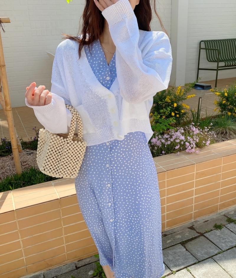 Petit linen cropped cardigan