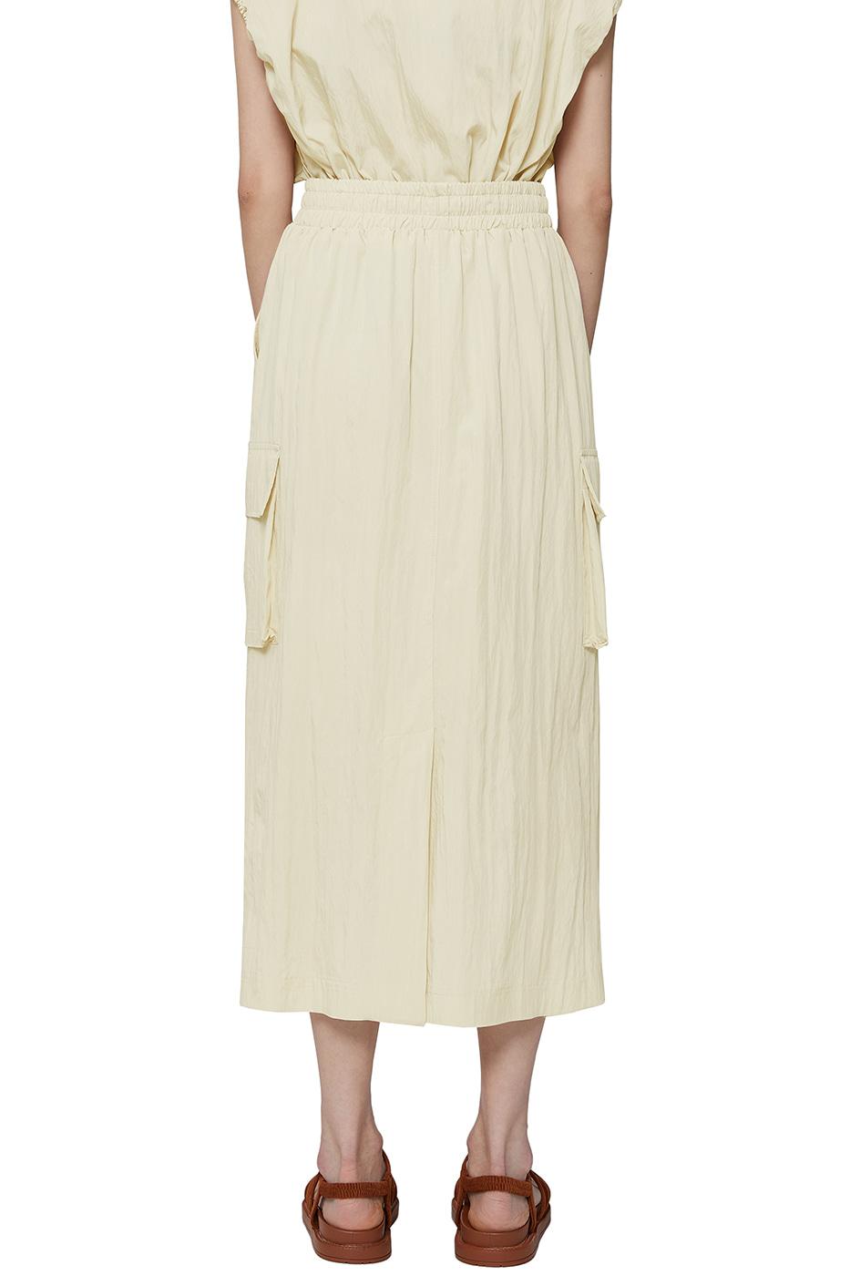 Capri cargo long skirt