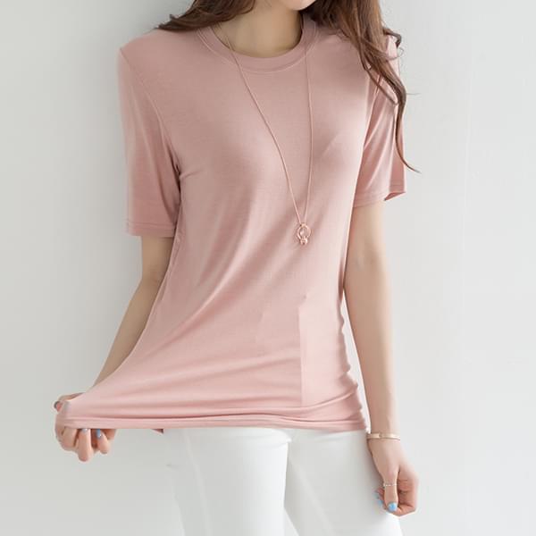 Soft and fluffy Basic Round T-shirt #107037
