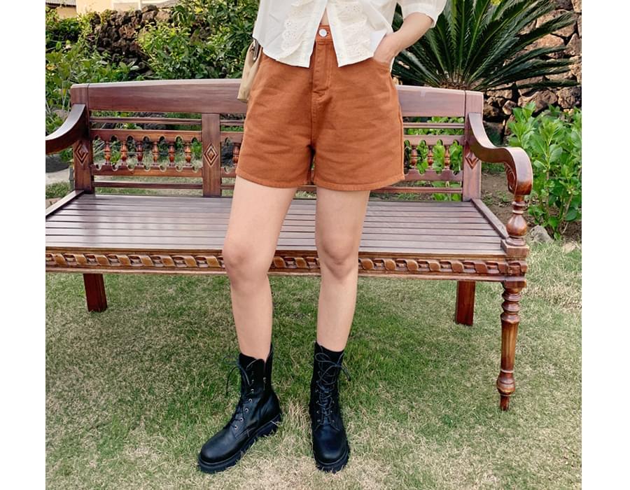 Vintage lace-up walker boots