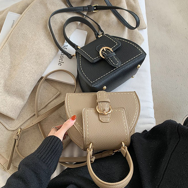 Classic Stitch Bucket Shoulder Leather Bag
