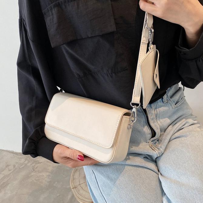 Simple Soft Mini Square Shoulder Bag