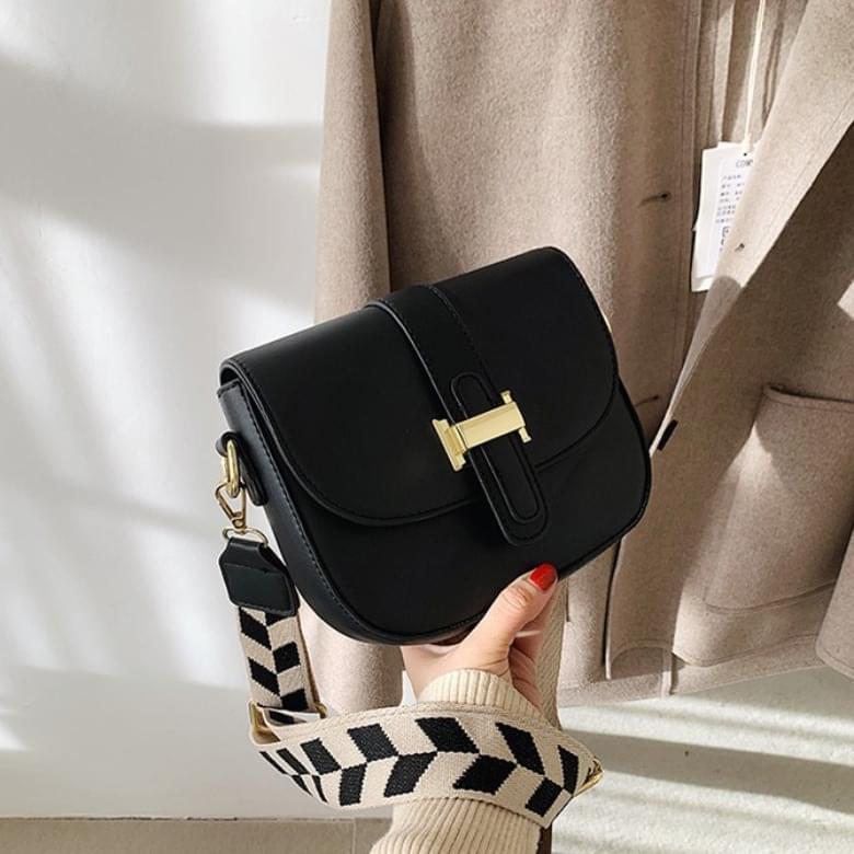 Simple Semicircle Buckle Cross Shoulder Bag