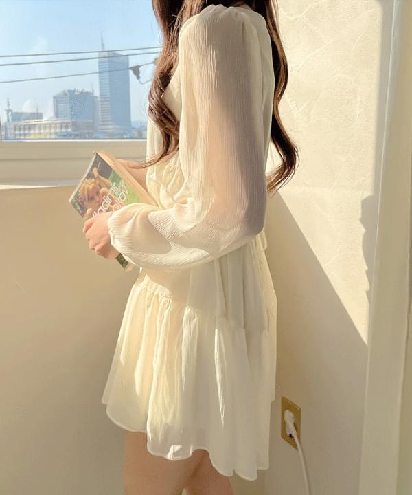 Melody Chiffon Cancan Dress 4color
