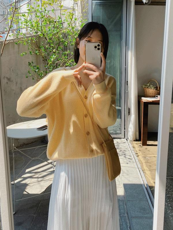 Marshmallow Loose-fit cardigan