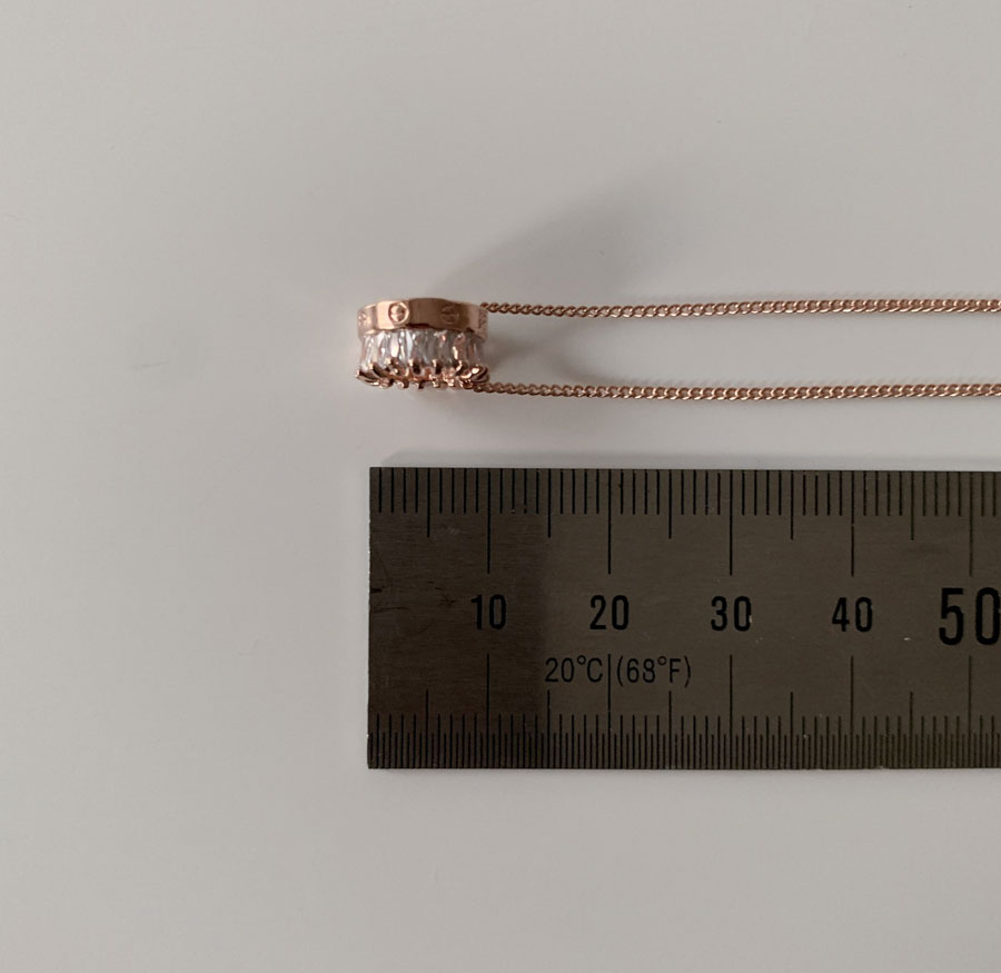 Loose Round Cubic Simple Necklace